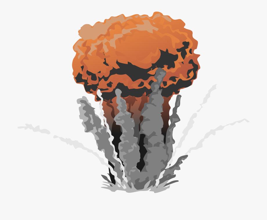 Explosion clipart nuke explosion. Atomic bomb gif transparent