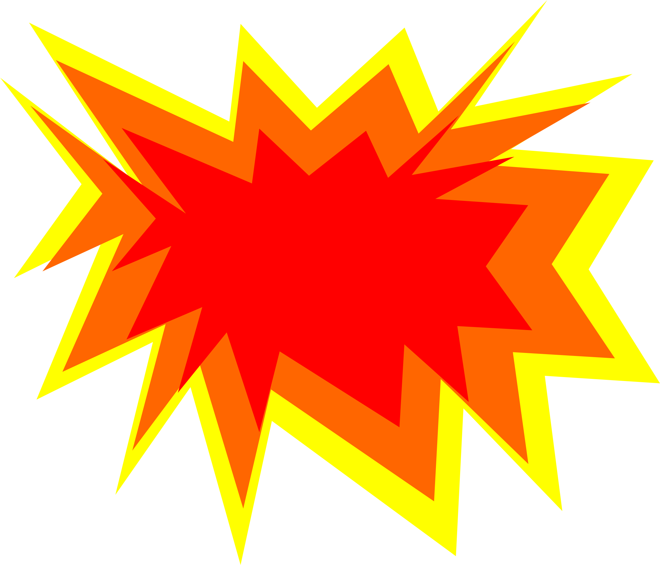 Image for free clip. Clipart explosion