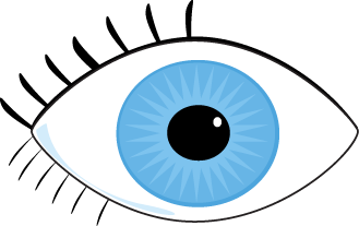 Clipart eyes blue. Eye clip art black