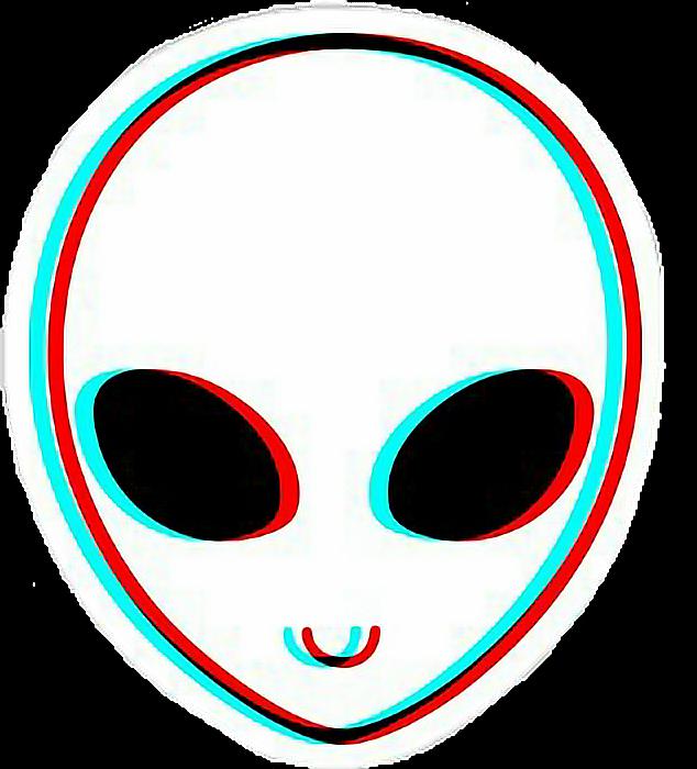 Ftestickers glitch white colors. Clipart eye alien