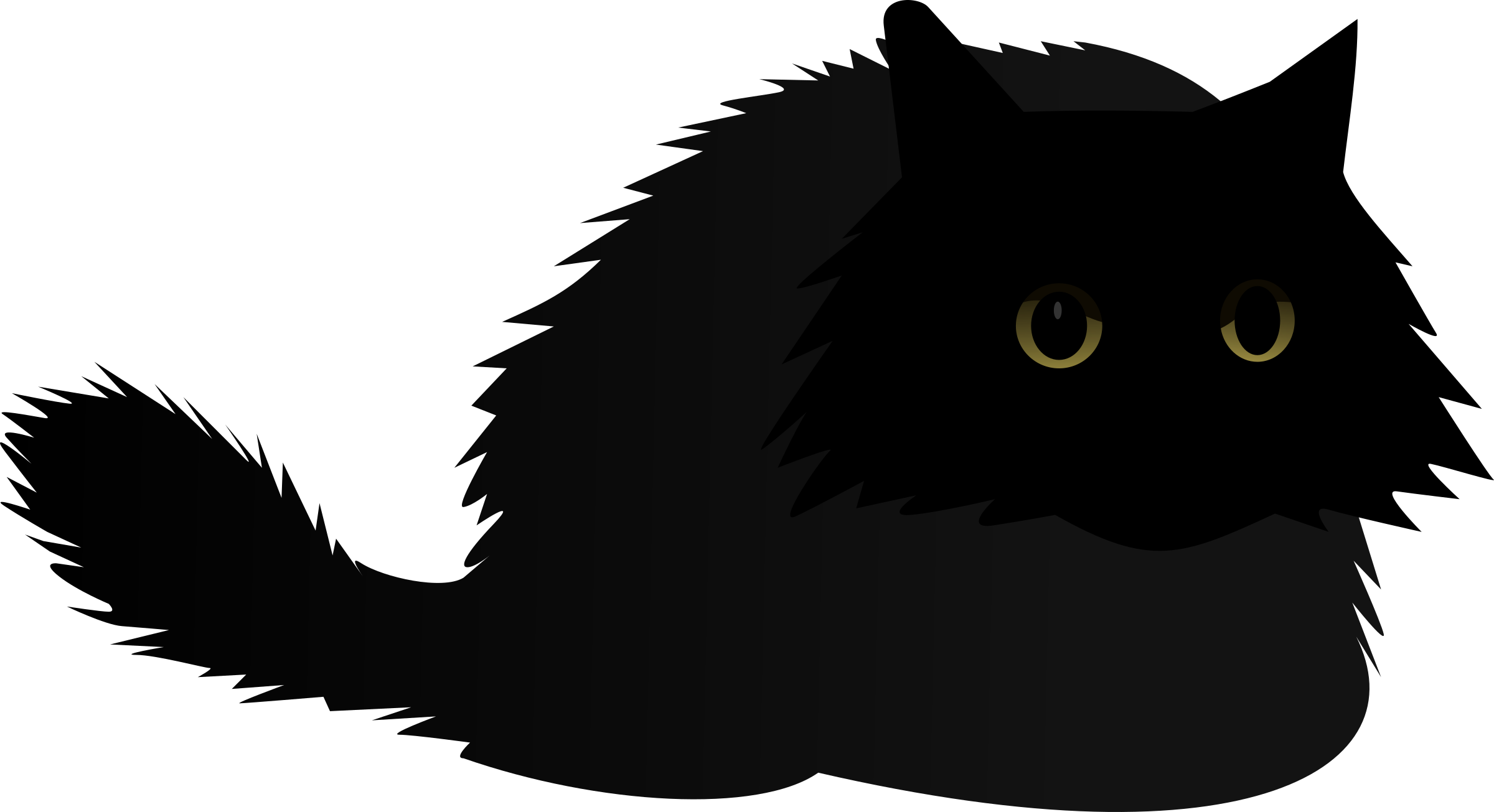 Eye clipart angry. Cat big image png