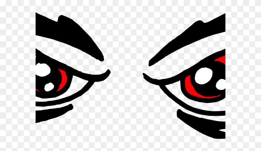 Eyes clipart angry. Red drawing cartoon png