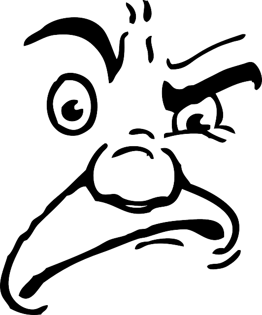 Angry face line drawing. Clipart hippo mad