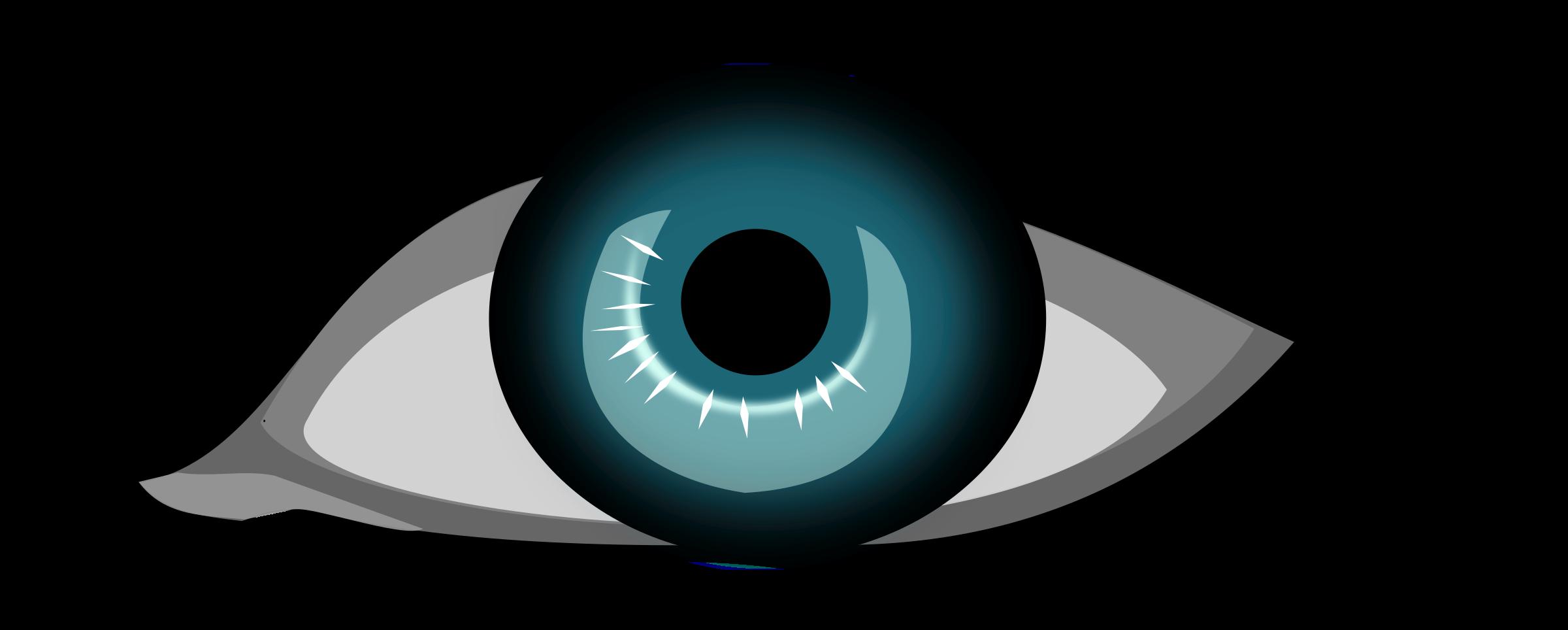 Blue eye big image. Eyelash clipart animated
