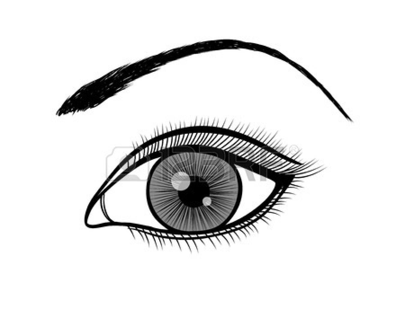 eye black and. Eyeballs clipart eyeball line