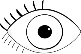 Eyeball clipart black and white. Pin on