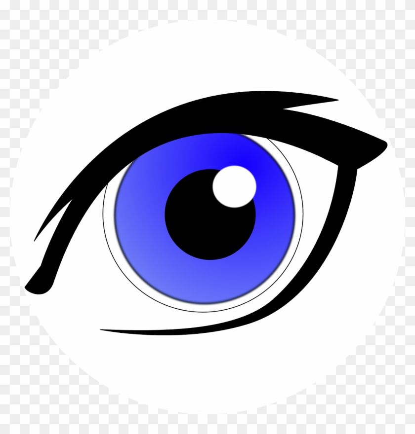 Eye lens cartoon hd. Clipart eyes blue
