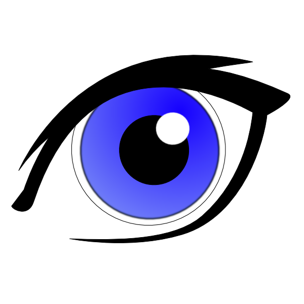 Eye with eyeliner clip. Eyes clipart blue