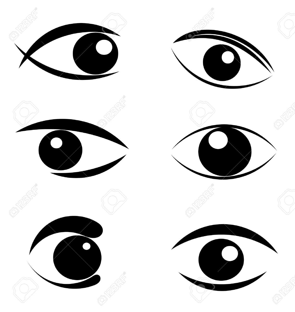 Squinting his eyes text. Clipart eye book