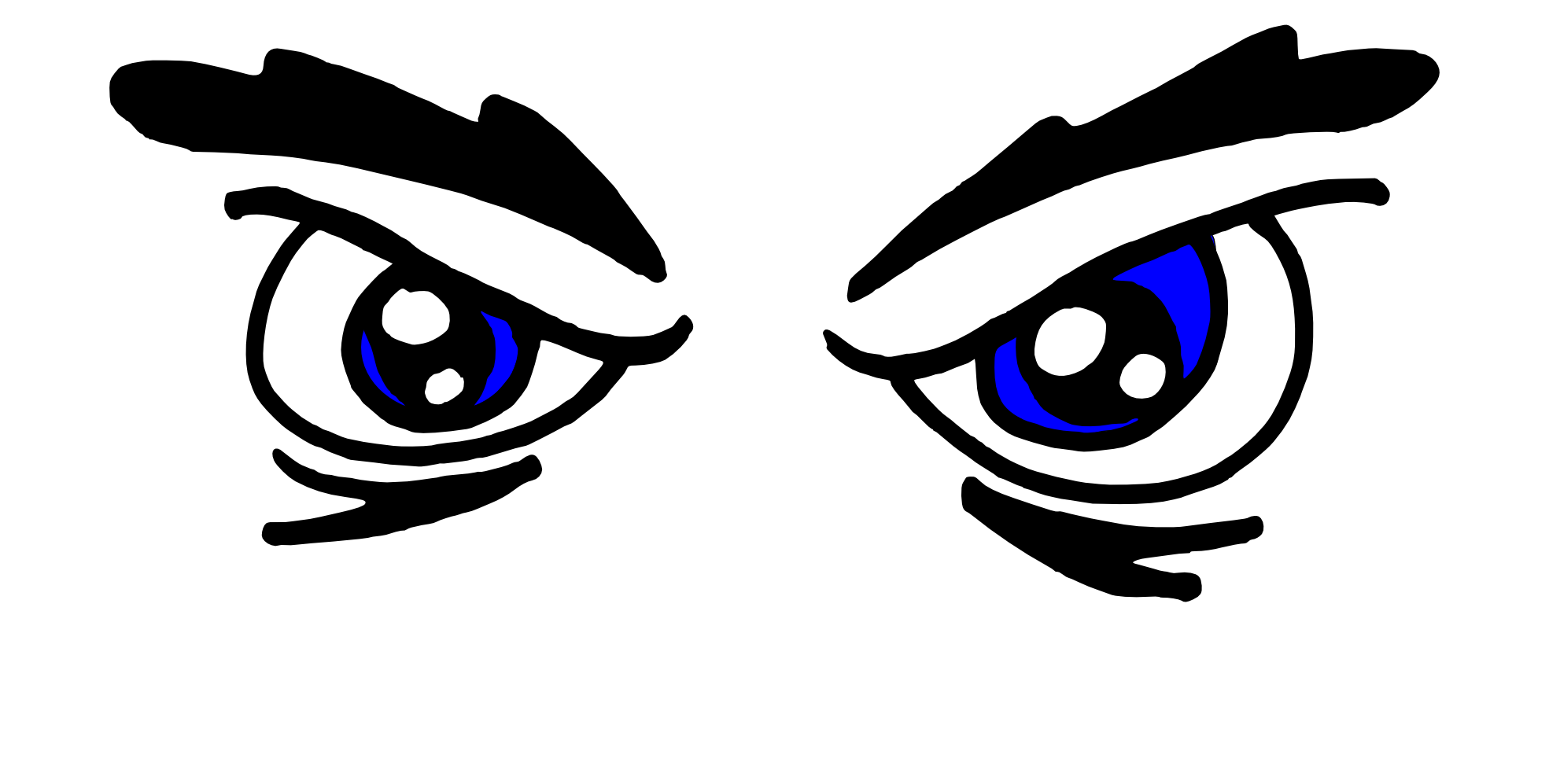 Black and white eyeball. Mad clipart angry child