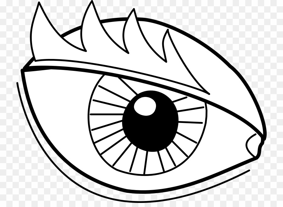 Easy dragon png coloring. Clipart eye book