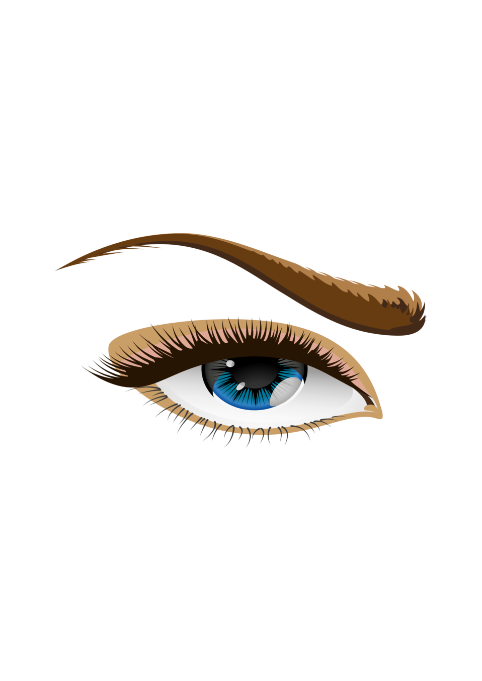 Eyelash clipart mouth. Public domain clip art