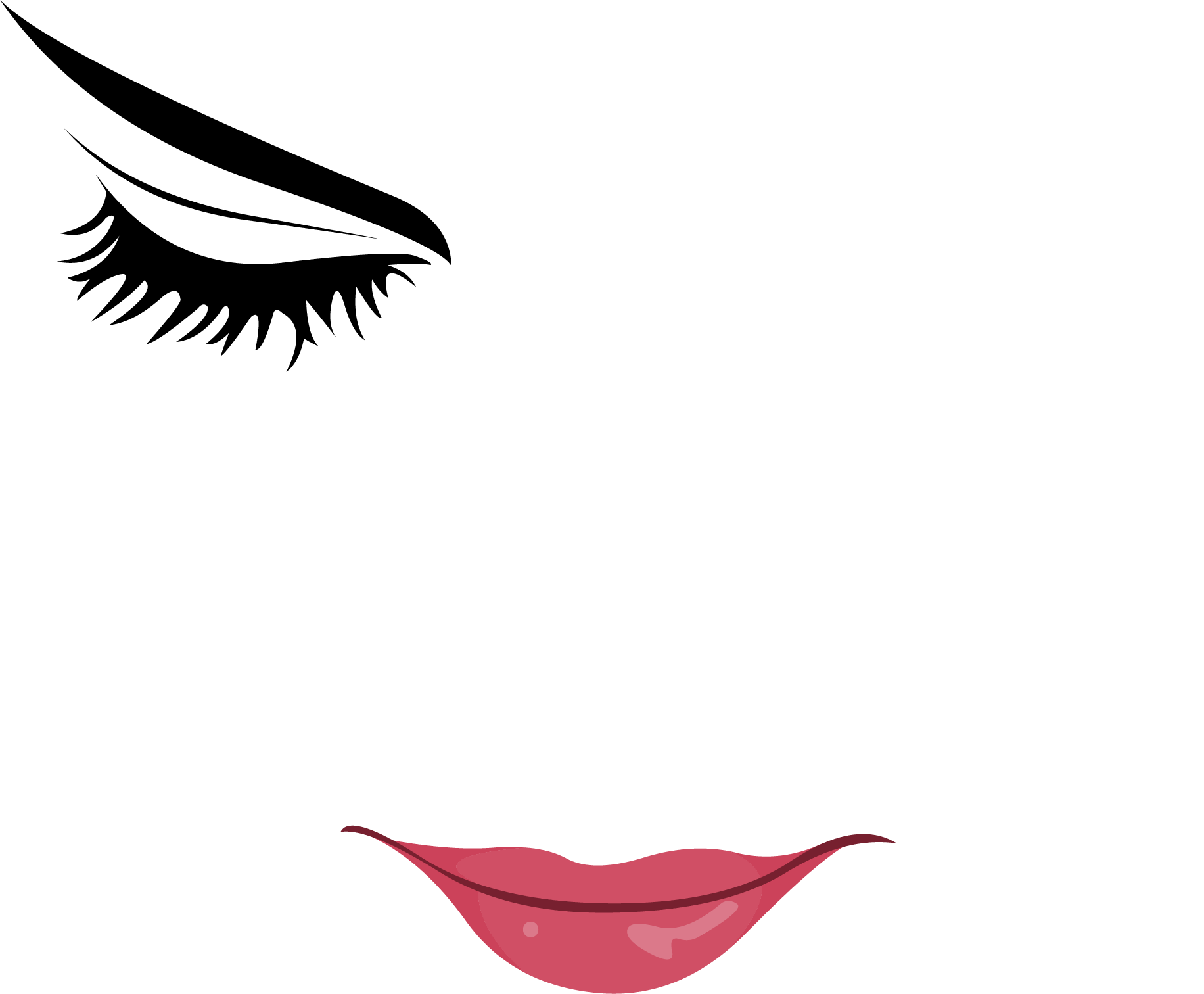 Eyebrow clipart painting. Woman with eyes closed