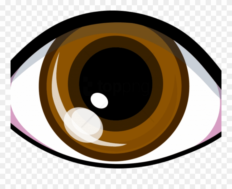 Hazel bron transparent cartoon. Eyes clipart brown eye