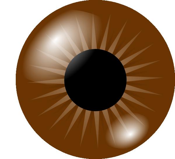 Clip art at clker. Eyelashes clipart dark brown eye