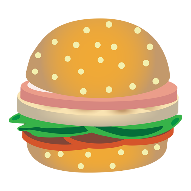 Realistic burger png and. Dot clipart vector