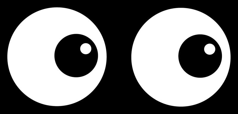 Cartoon eyes ourclipart ideas. Eyeballs clipart sight senses