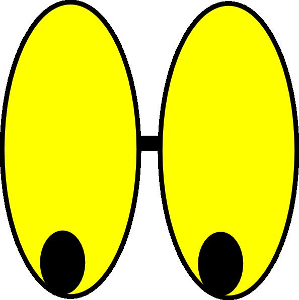 Yellow watching eyes clip. Eyeball clipart surprised eye
