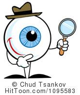 Eye clipart character. Eyeball royalty free stock