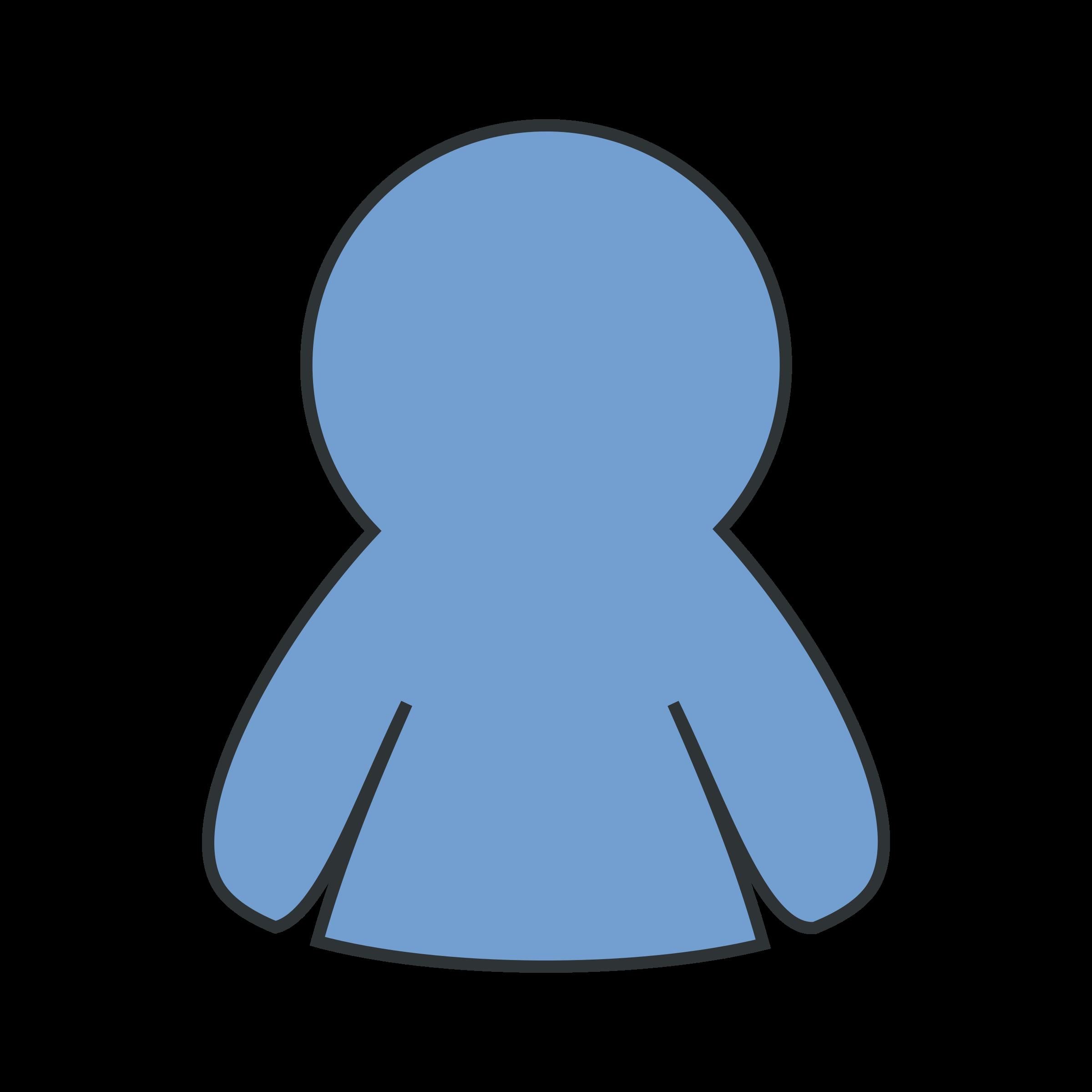 Basic schema character big. Men clipart simple
