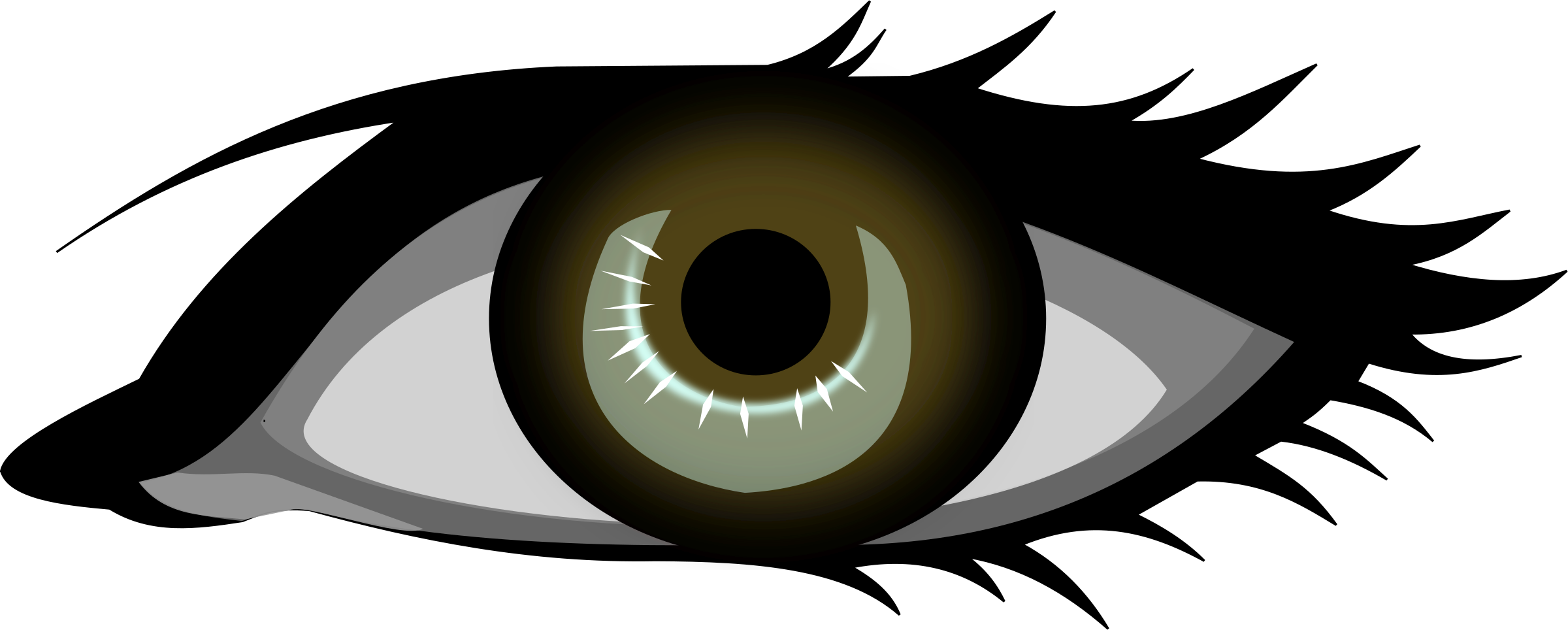 Eyes clipart brow. Eye brown graphics illustrations
