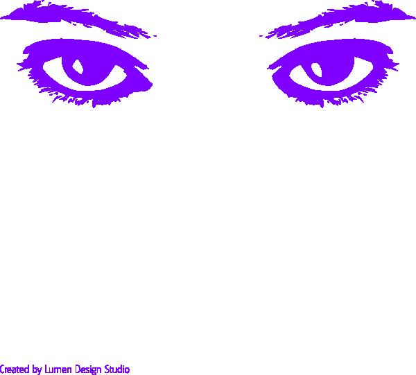 Purple eyes at clker. Clipart eye clip art