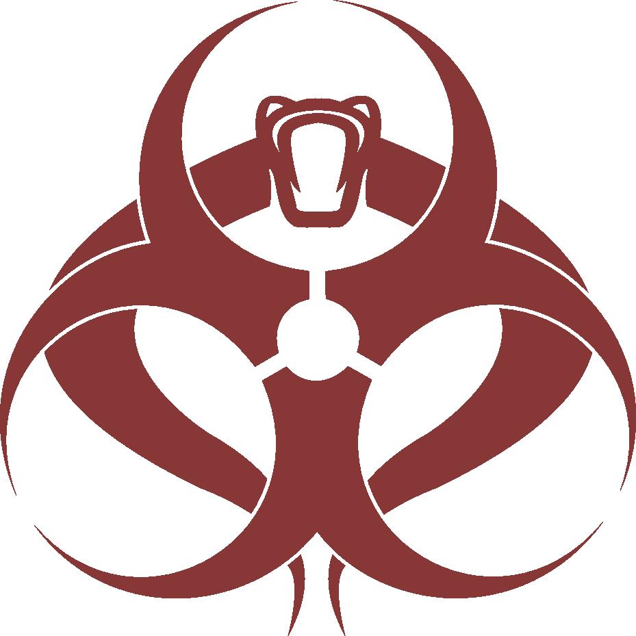 Clipart eye cobra. Biohazard toxoviper logo by