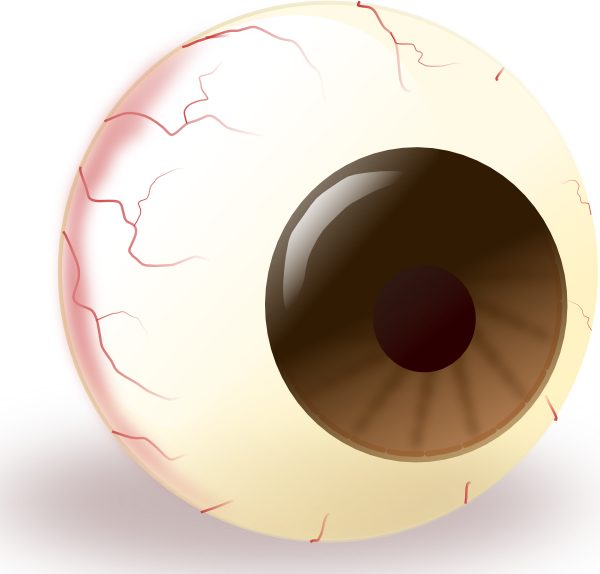 Thumb clipart brown. Eye coloring pages to
