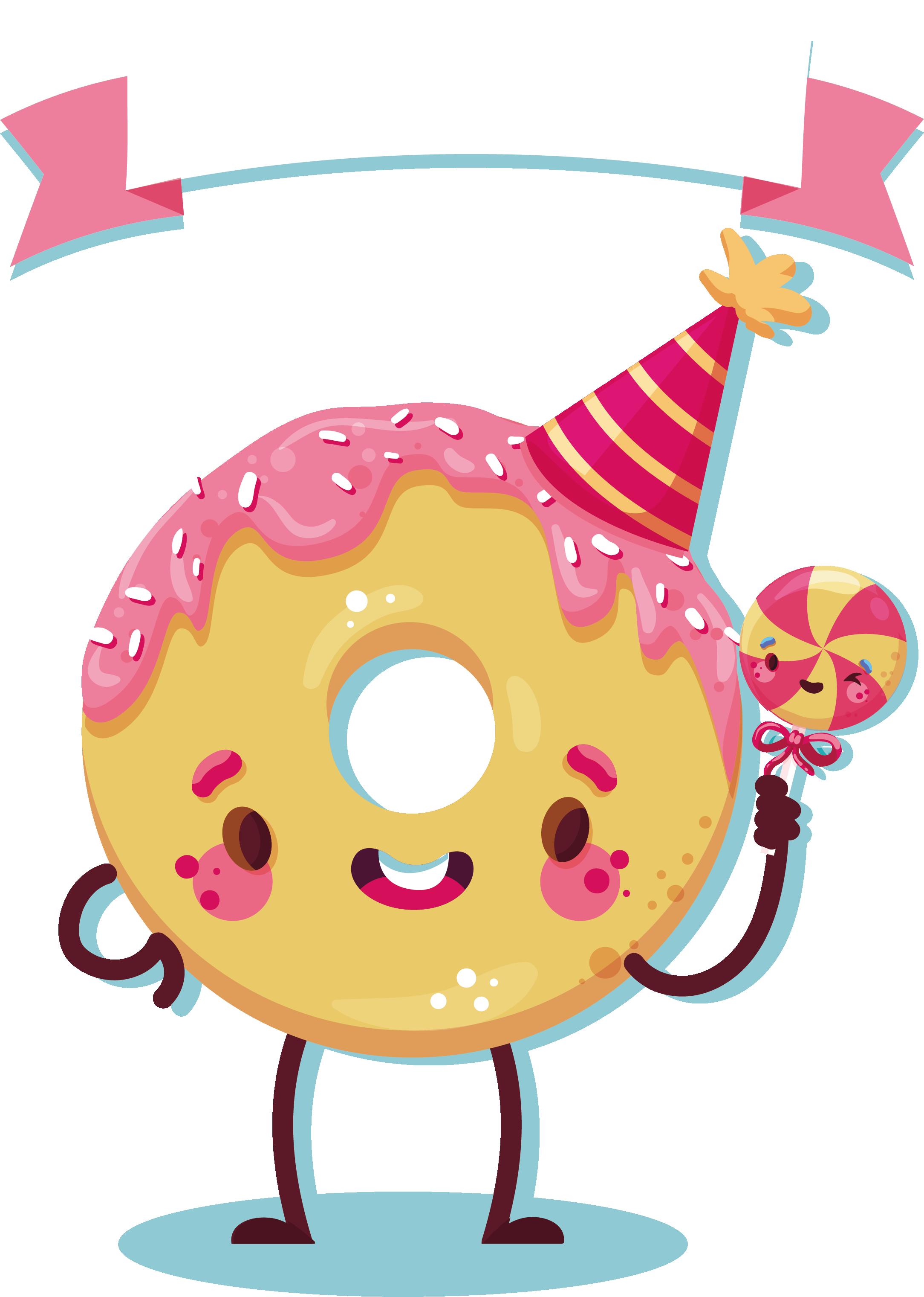 Doughnut cartoon transprent png. Donut clipart yellow