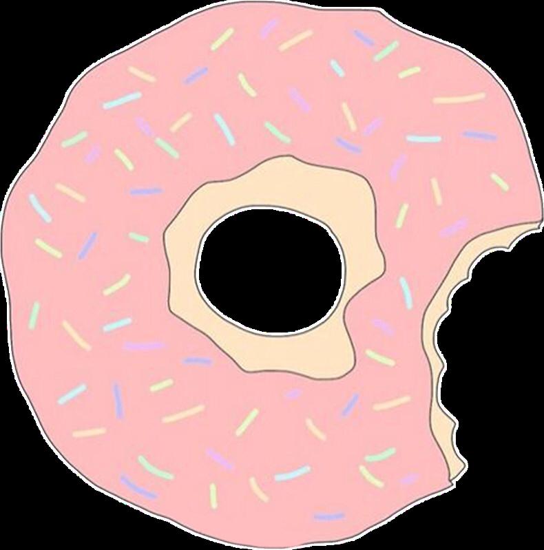 kawaii donut free. Doughnut clipart pastel
