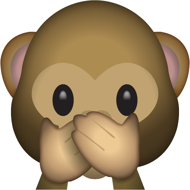 Monkey emoji with flower crown png. Download speak no evil