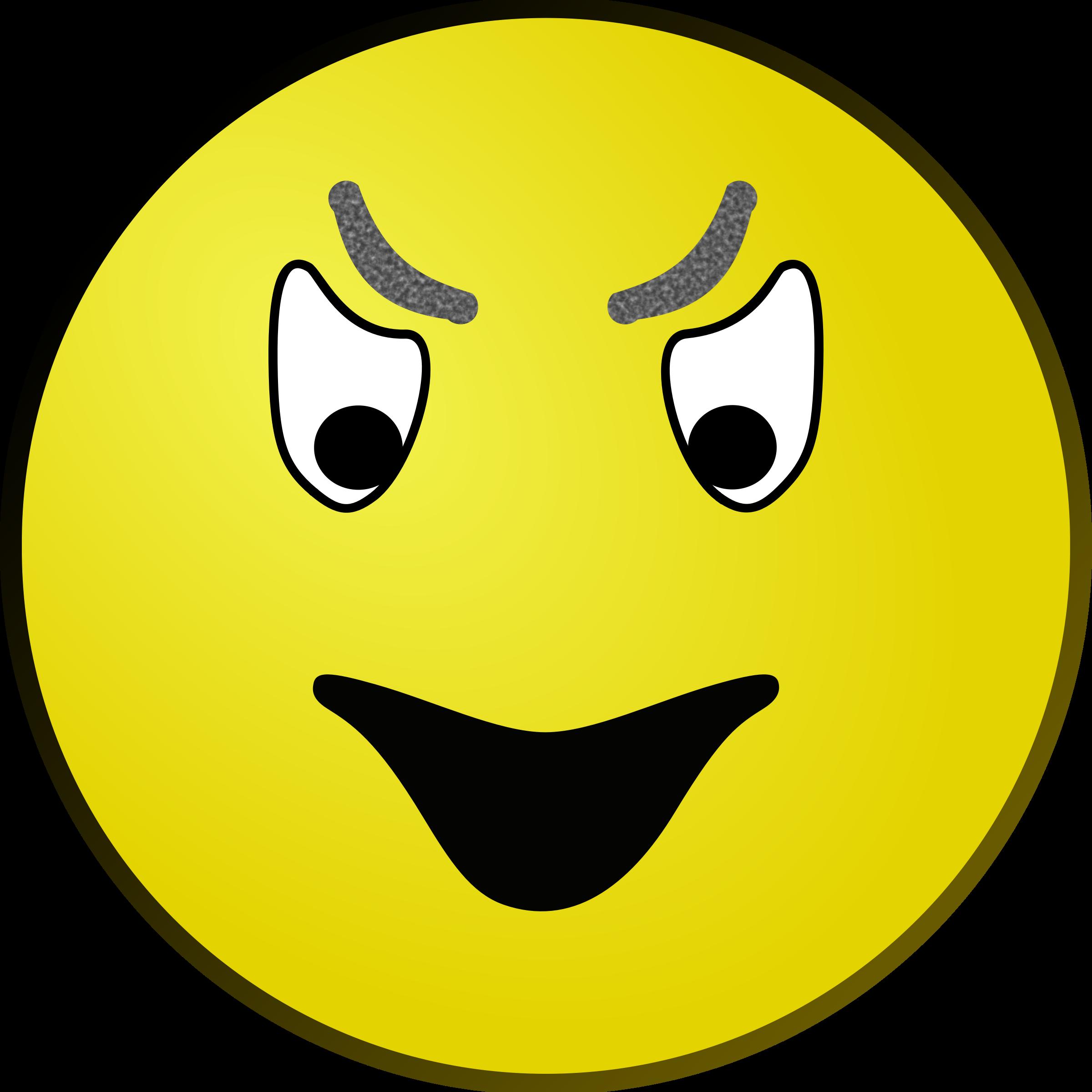 Phone clipart evil. Smiley big image png