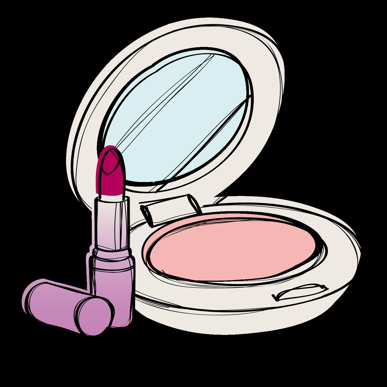 Cosmetics make up foundation. Lipstick clipart eye shadow