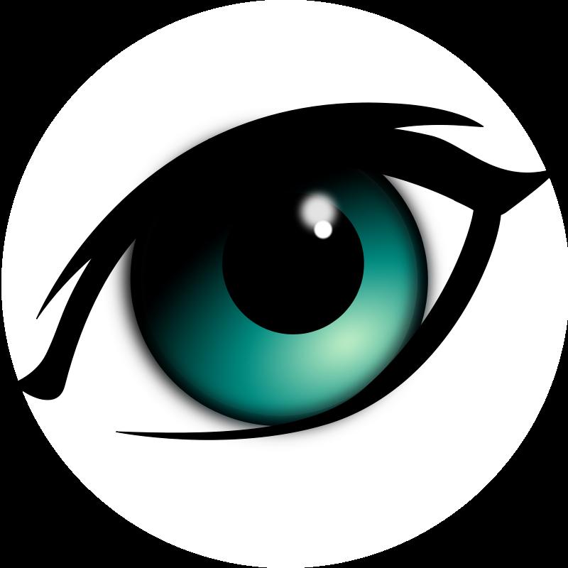 Eyeballs clipart eyeball line. Green eye clip art