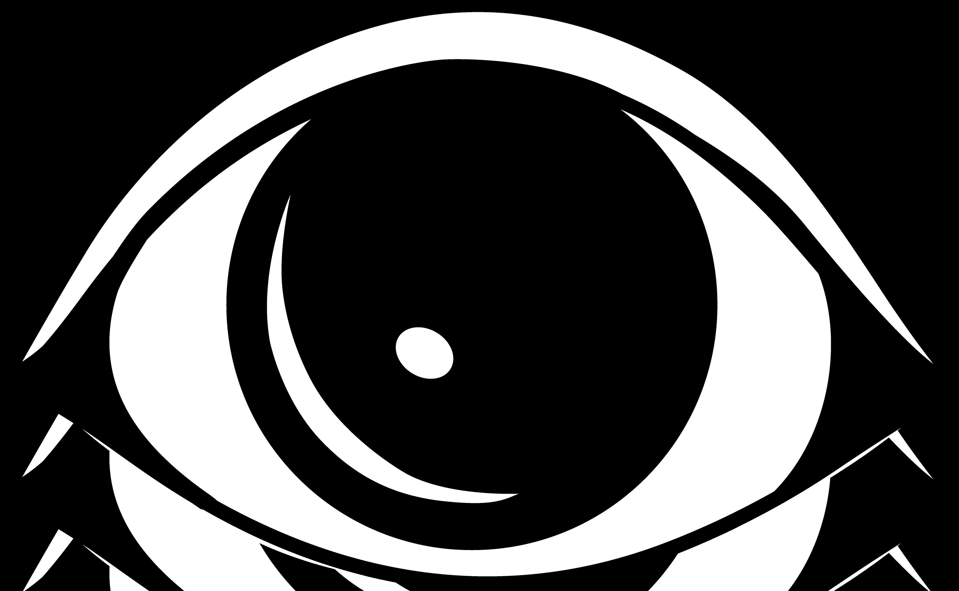 Clip art black and. Eye clipart outline