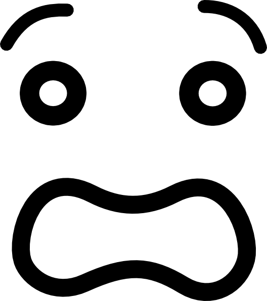 Fear clipart black and white. Scared cartoon eyes group