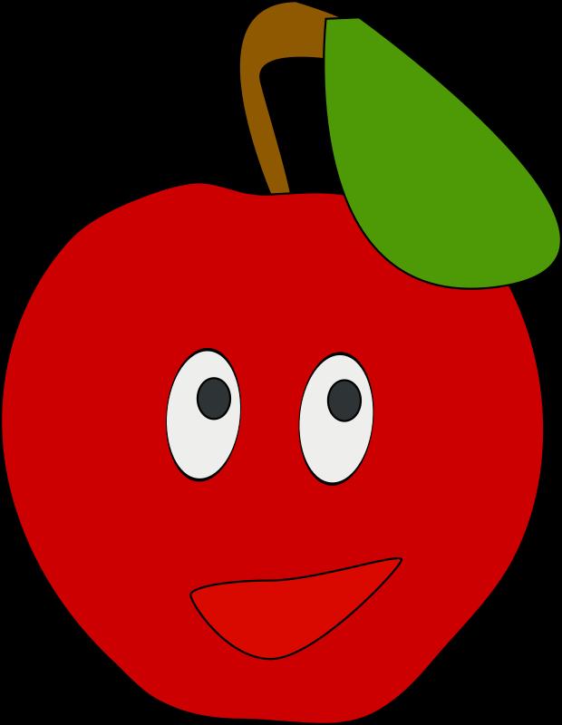 Eyes clipart tomato. Smiling apple medium image