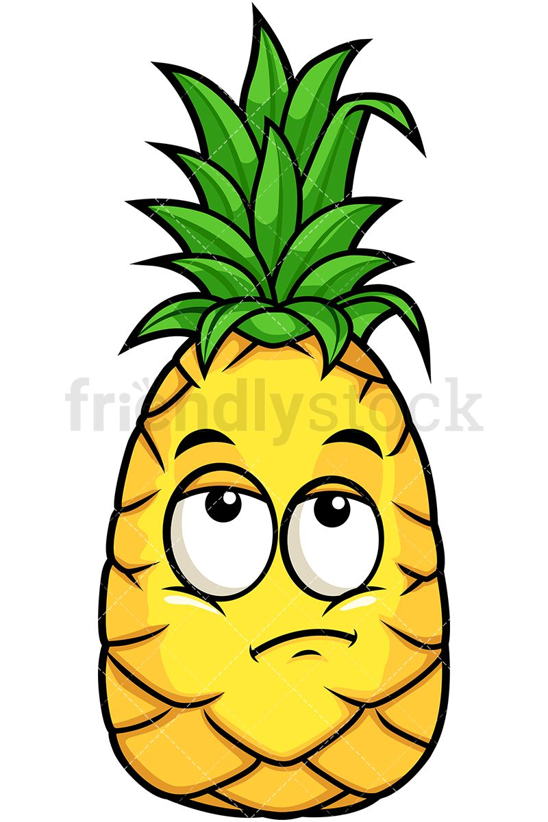 Pineapple clipart eye. Rolling eyes pine emoji