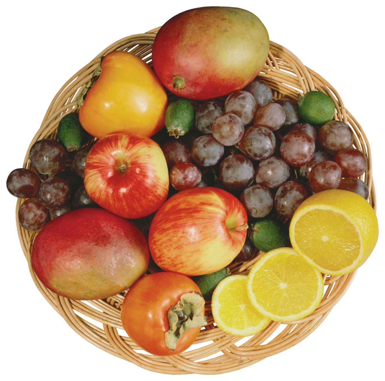 Clipart fruit fruit cup. Mixed fruits in wicker