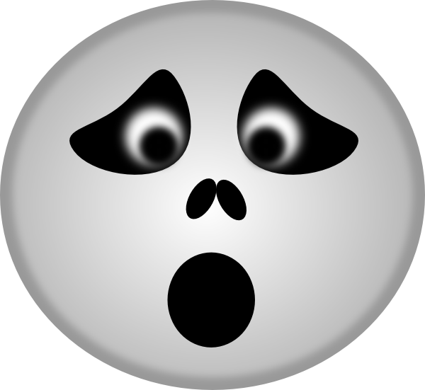 Spooky clip art at. Clipart ghost ghost face