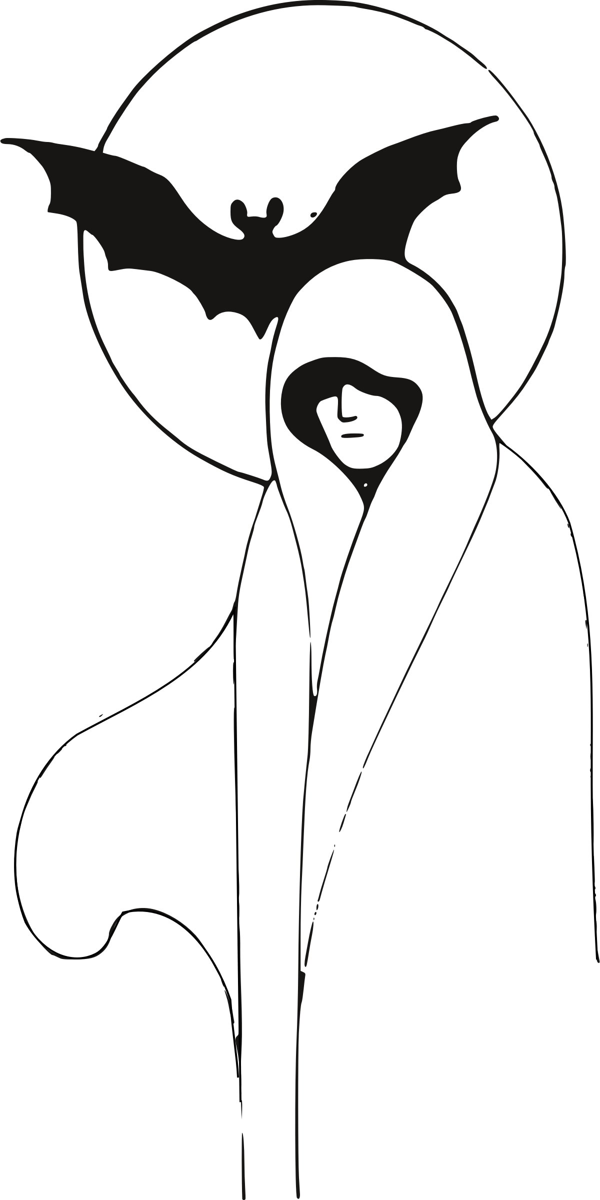 Ghost big image png. Lady clipart line art