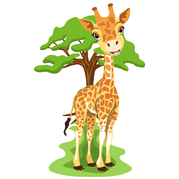 Woodland clipart animal community. Giraffe images art pinterest