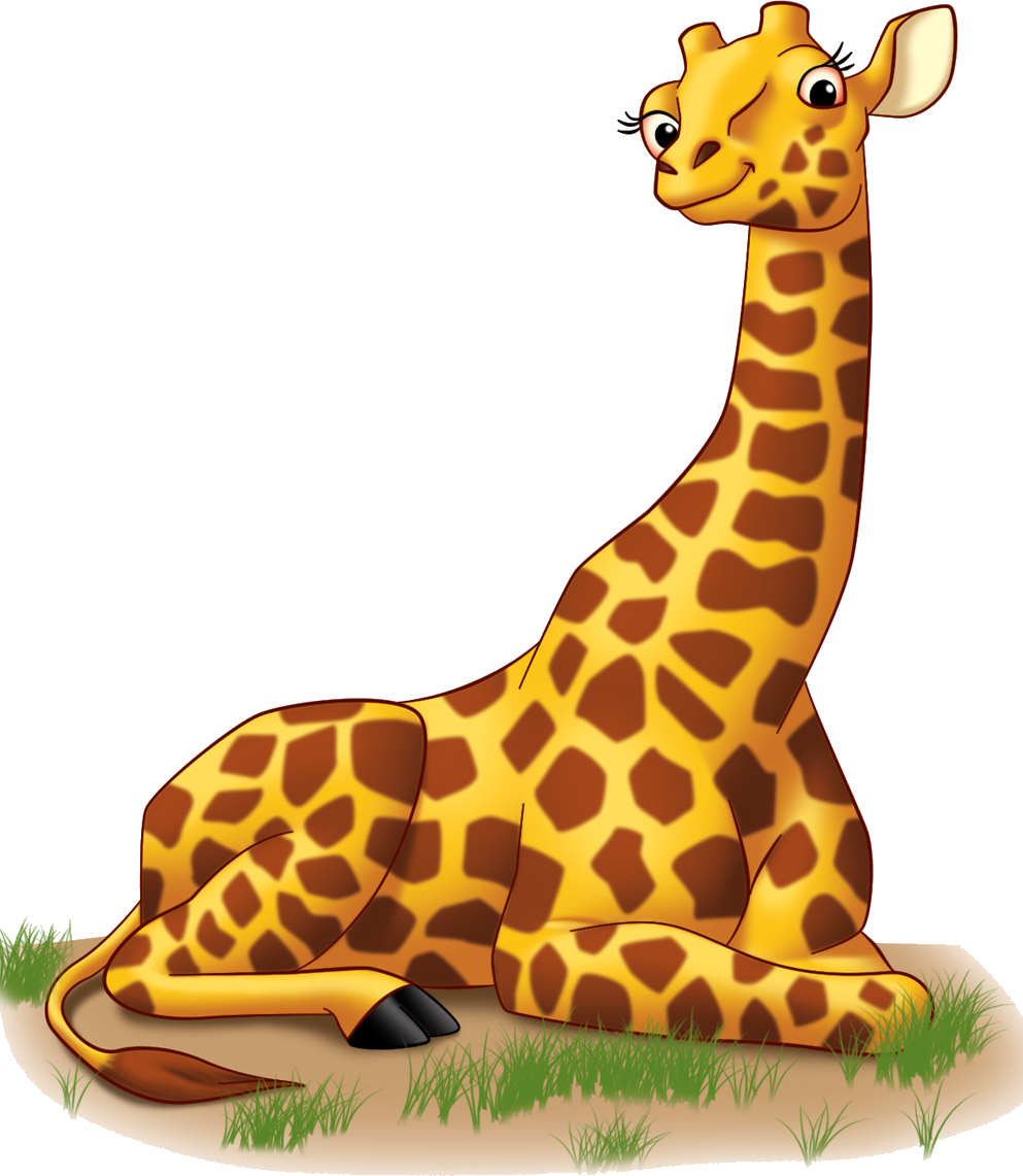 Cute giraffe elephant clip. Shot clipart screening