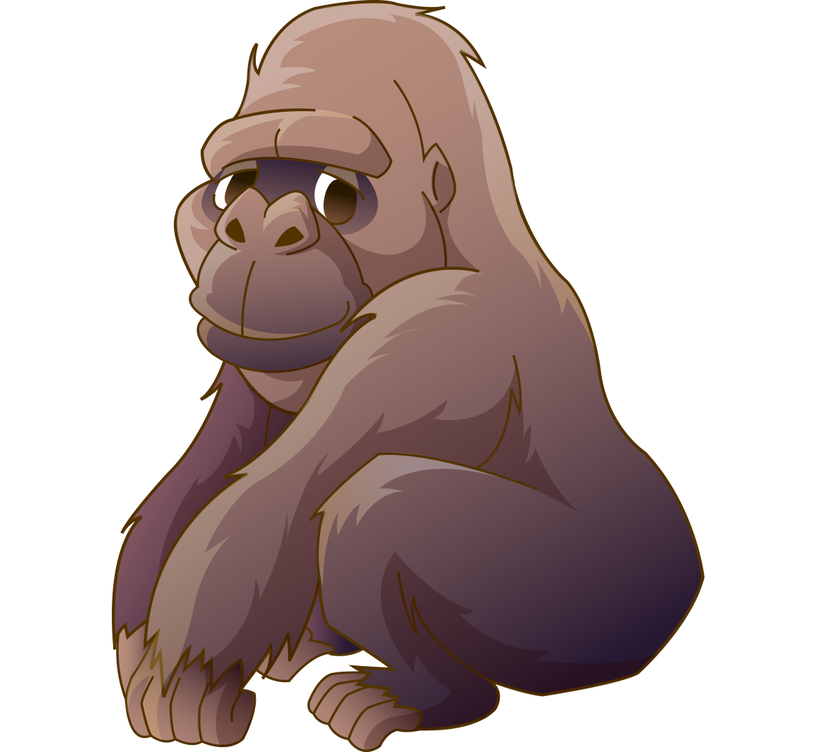 Ape cartoon orangutan cross. Clipart eye gorilla