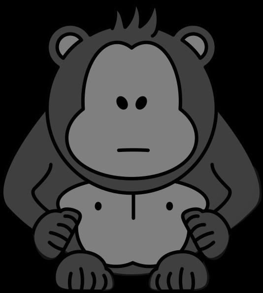 With no eyes clip. Clipart eye gorilla