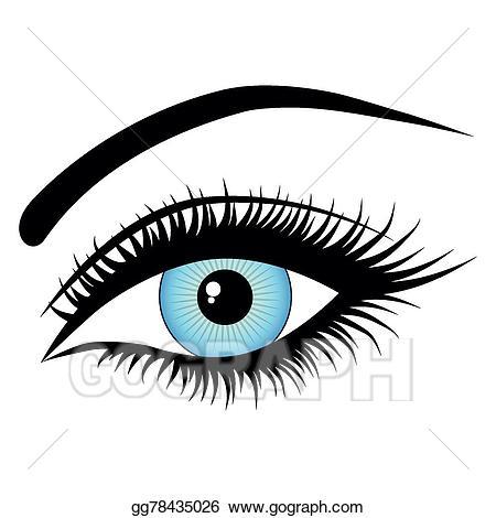 Eye clipart human eye. Vector illustration gg