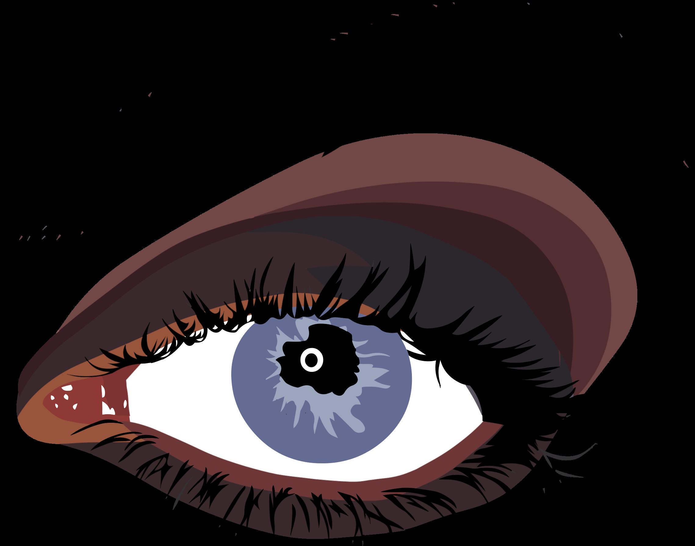 Female eye big image. Eyeballs clipart close reading