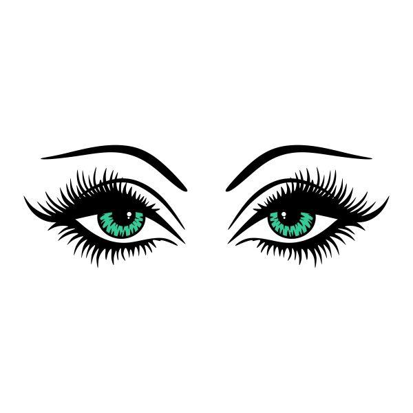 Pin by cuttabledesigns on. Eyelashes clipart dark brown eye