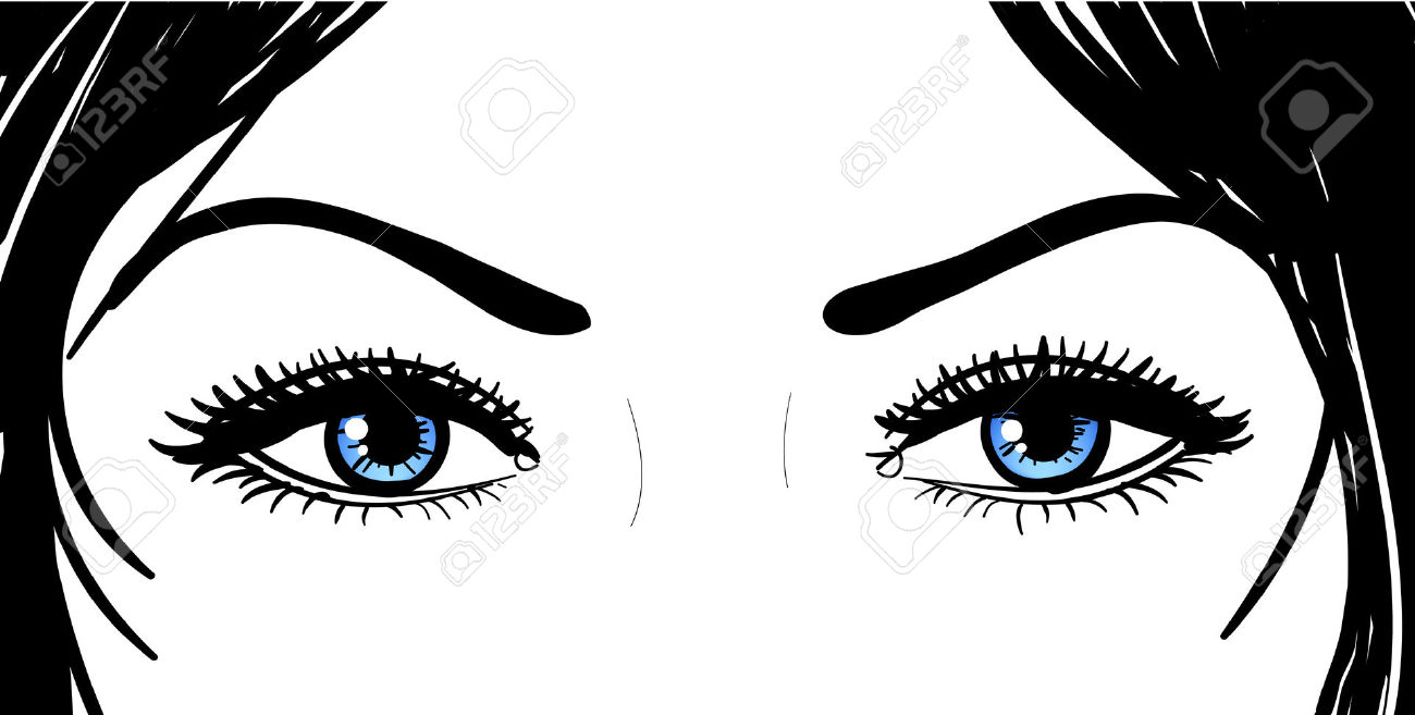 Eyes clipart lady. Free dark cliparts download