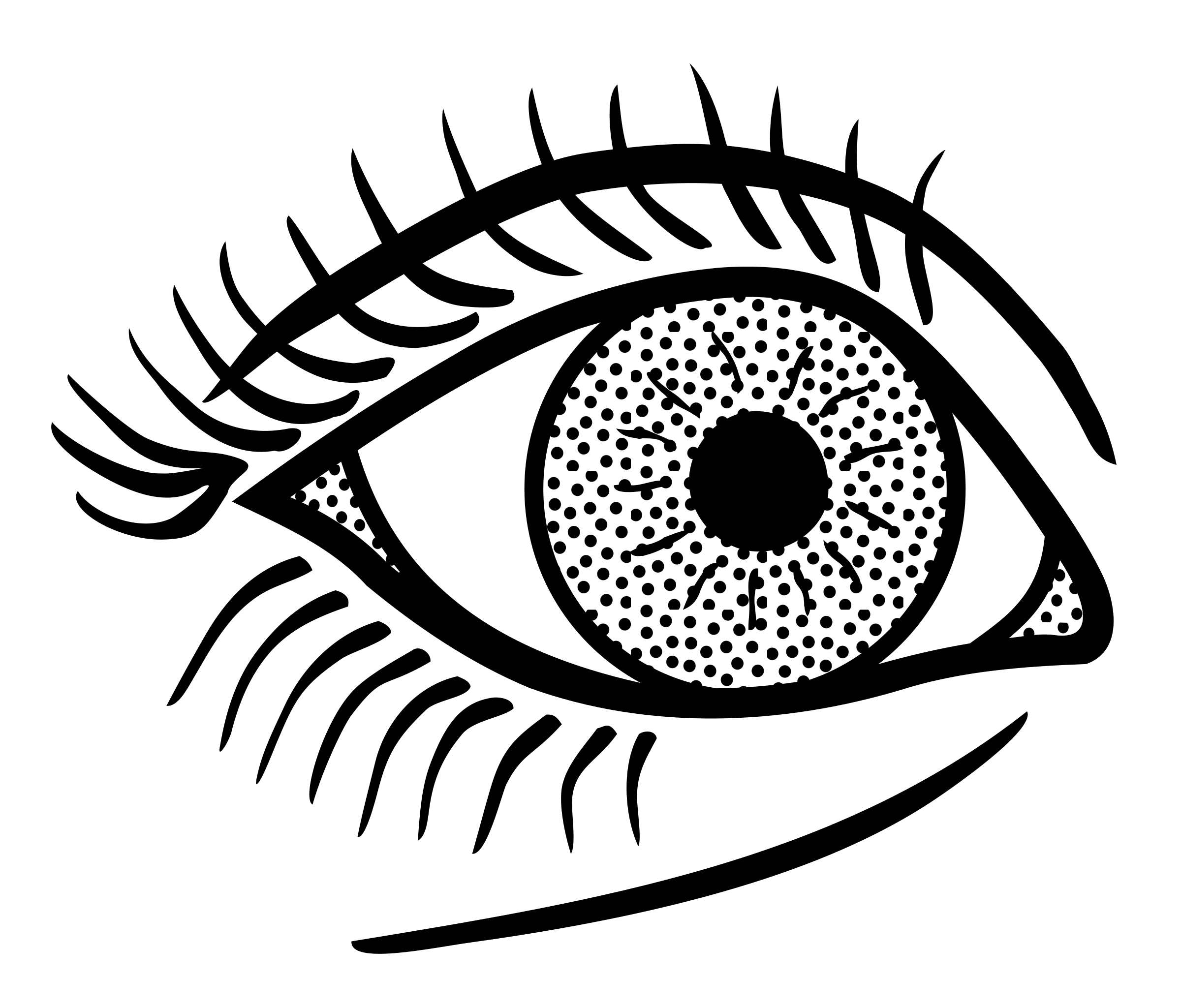 Clipart eye line art. Lineart big image png